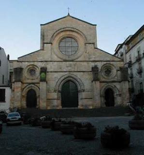 The facade of the cathedral in Cosenza