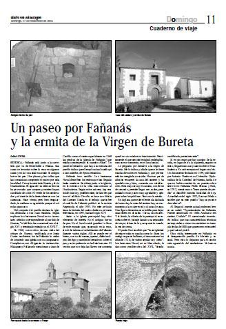 Un paseo por Fañanás y la ermita de la Virgen de Bureta