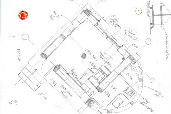 Este diseño de casa pequeña esta ubicado en Barcelona, diseño de la ofician de Arquitectura Komestible