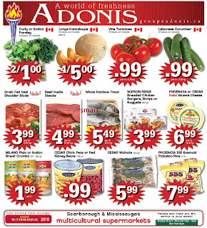 Marche Adonis Canada Flyer August 16 - 22, 2018