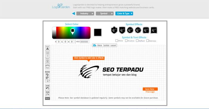 Cara Membuat Logo Online di Situs LogoGarden 4