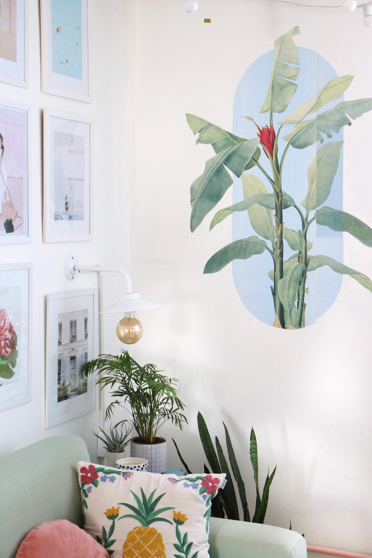 lambe lambe parede sala como fazer onde comprar - kit cartazes lambe lambe botanica floral banana