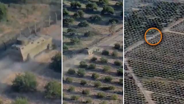 """Los Drones de El CJNG """"graban la irrupción de sus monstruos artillados"""" en Michoacán en al toma de Tepalcatepec"""