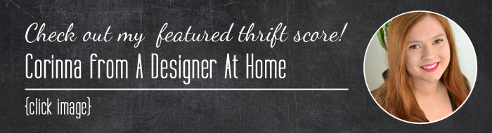 #thriftscorethursday Corinna's treasures from A Designer At Home