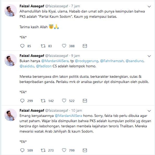 Faizal Assegaf tuduh Sandi dan Rocky Gerung