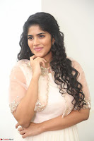 Megha Akash in beautiful Cream Transparent Anarkali Dress at Pre release function of Movie LIE ~ Celebrities Galleries 033.JPG