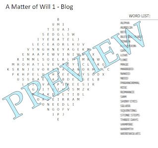 """A diamond shaped word search with a blurred out word list and the word """"Preview"""" over the top."""
