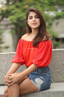Rhea Chakraborty in Red Crop Top and Denim Shorts Spicy Pics ~  Exclusive 288.JPG