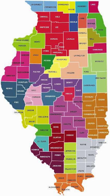 Solid illinois map