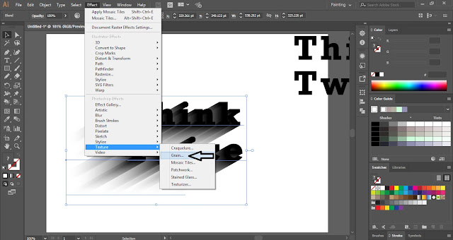 How to create 3D Gritty Shadow Effect in Adobe illustrator?