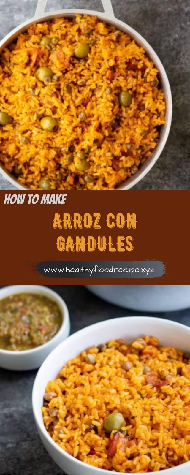 ARROZ CON GANDULES