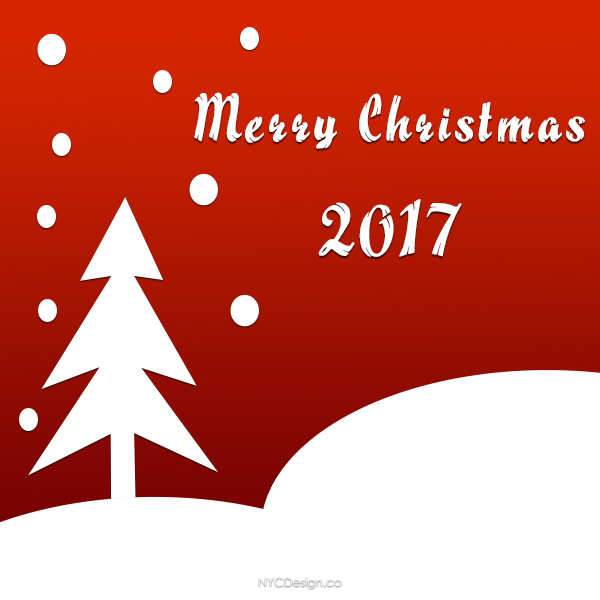 Captivating New York Web Design Studio, New York, NY: Merry Christmas Cards 2017