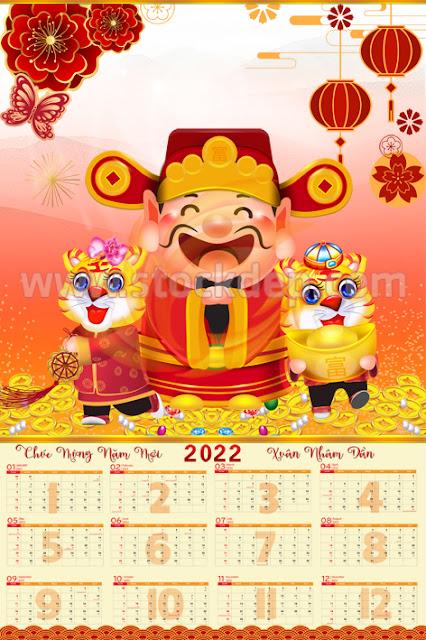 Lịch tờ âm lịch 12 tháng năm 2022