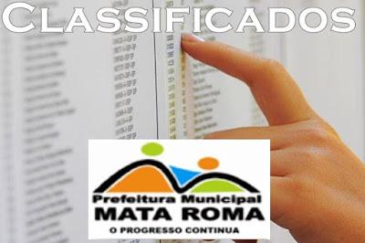 Prefeitura de Mata Roma divulga classificados do Concurso, confira a lista dos aprovados.