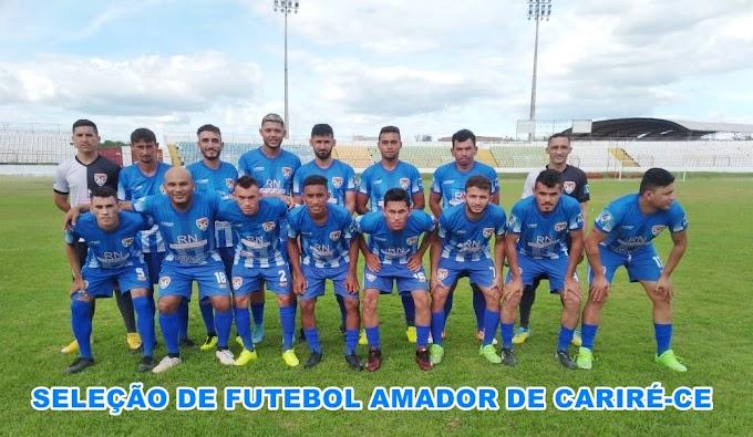 Seleção de Cariré perde para o Guarani de Sobral; mas, apesar da derrota, fez uma boa partida