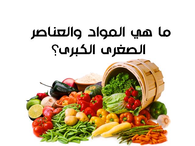 ماهي العناصر الغذائية الصغرى؟