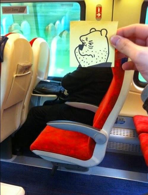 פו הדב כועס ברכבת