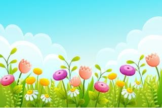 taman bunga kartun