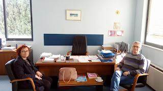 Συνάντηση της βουλεύτριας Πιερίας-ΣΥ.ΡΙΖ.Α. Ελισσάβετ (Μπέττυ) Σκούφα με τον πρόεδρο του Ε.Κ.Α.Β κ. Καρακατσιανόπουλο