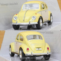 Miniatur Mobil VW Beetle / Kodok 1967 Two Colors