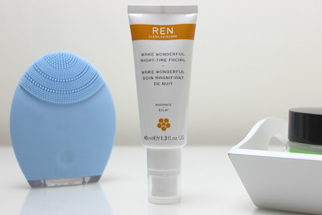 Gently exfoliate skin with REN Wake Wonderful Night-Time Facial