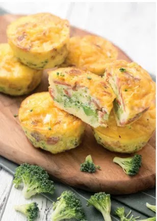 KETO BROCCOLI BACON AND CHEESE EGG MUFFINS