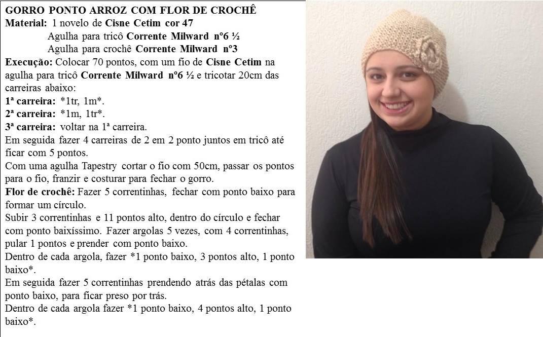 306cf10fa2112 Receita de Tricô  Gorro em tricô receita de Vitória Quintal