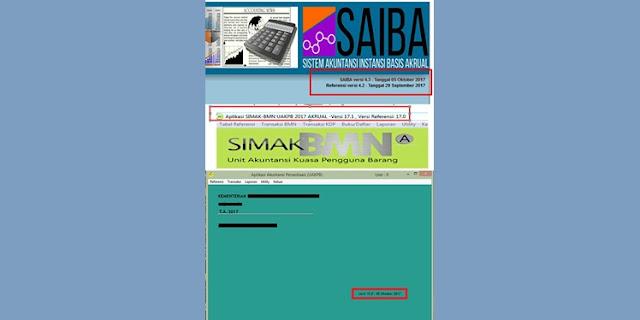 Download Update Aplikasi Persediaan 17.0, SAIBA 4.3 dan SIMAK BMN 17.1