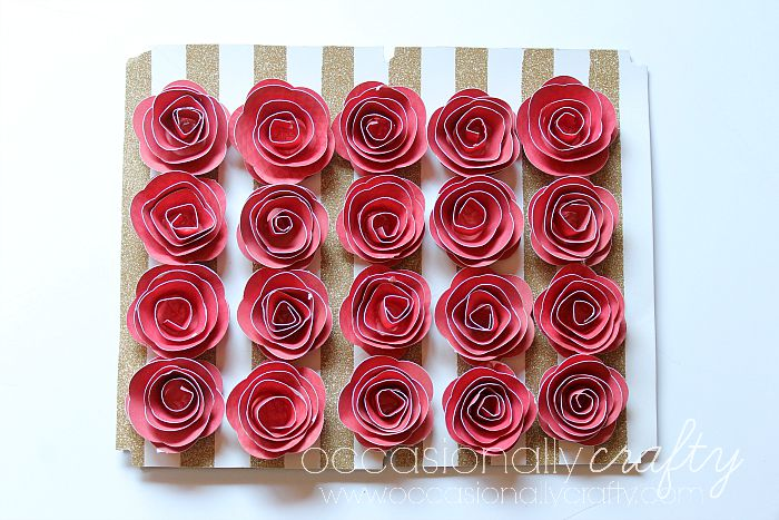 How to make a 3D Paper Flower Shadow Box - Home Craft Blog | 467x700