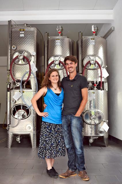 Christin Leydecker und Phil Klein vom Weingut klein.wine.