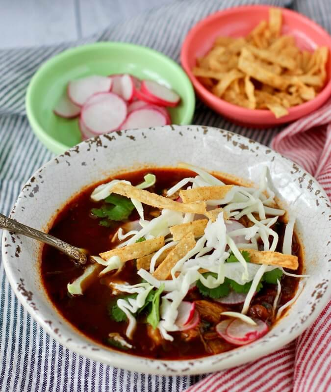 Pozole Rojo with Chicken