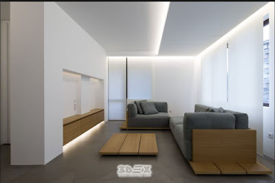 gypsum board ceiling panels with LED lighting system