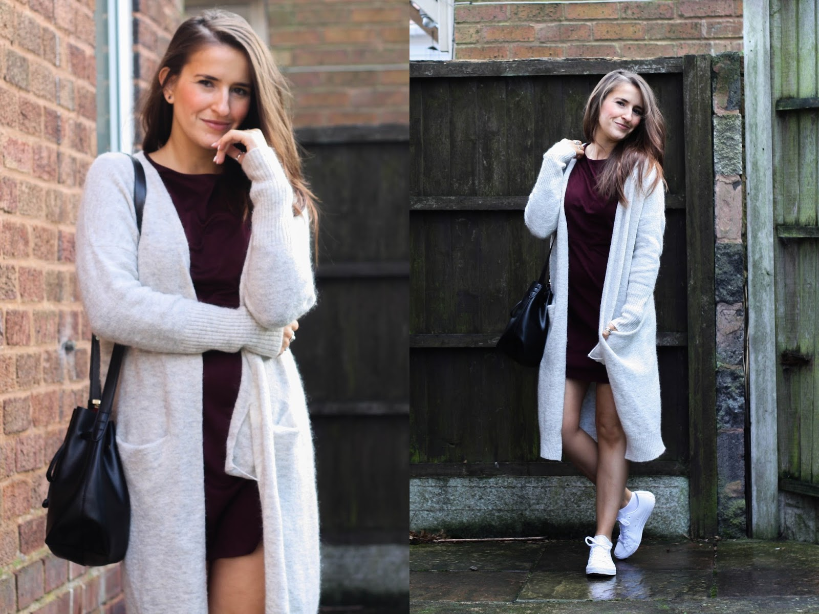 White leather converse and suede dress from Zara