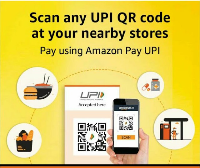 Amazon pays offer - scan & pay and gets Rs 50 cashback.