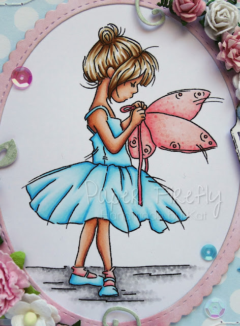 Girly fairy card using Fairy Wings image by LOTV
