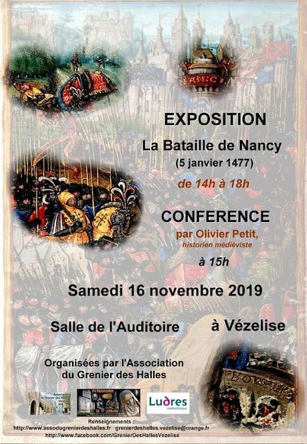 """VEZELISE (54) - Exposition-Conférence """"La Bataille de Nancy"""" (16 novembre 2019)"""
