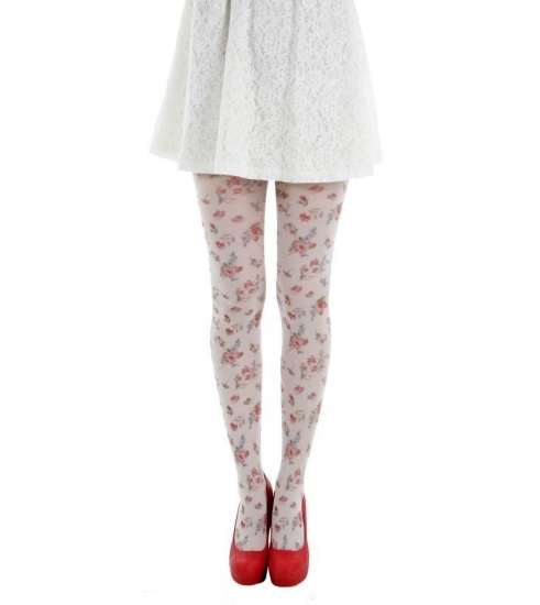 floral stockings tights