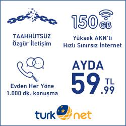En Uygun İnternet Tarifesi TurkNet
