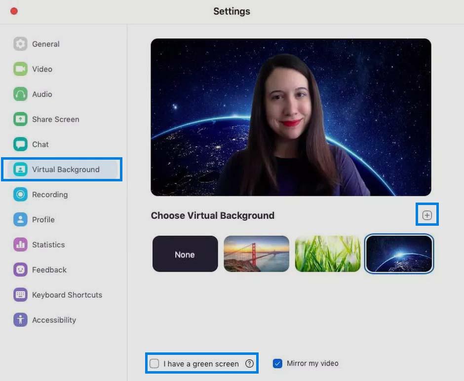 cara ganti virtual background zoom di laptop