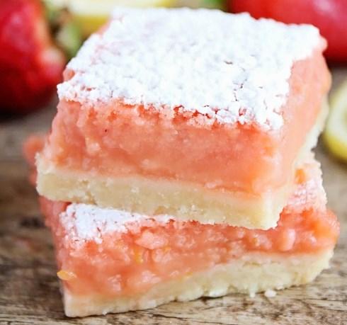 Strawberry Lemonade Bars #desserts #summerdessert