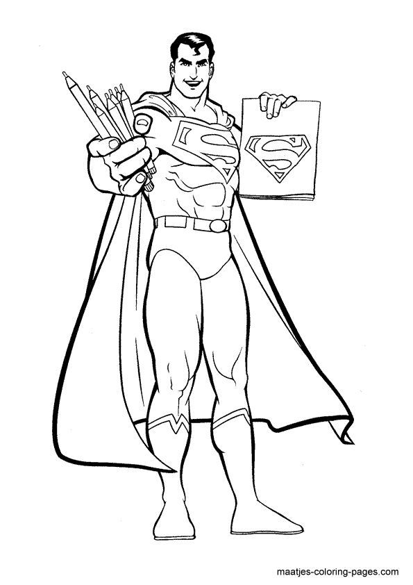coloring pages superman | Free Superman Coloring Pages For Boys | Kids Coloring Pages