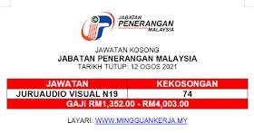 Jawatan Kosong Jabatan Penerangan Malaysia ~ GAJI RM1,352 - RM4,003 ~ 74 Kekosongan Ditawarkan