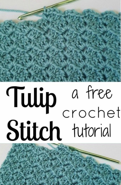 Tulip Stitch - Free Crochet Tutorial