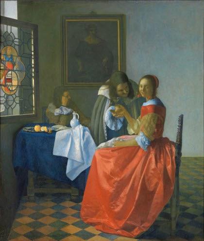 Menina com uma Taça de Vinho - Vermeer, Jan e suas principais pinturas