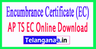 Encumbrance Certificate (EC) Download AP TS EC Online Download