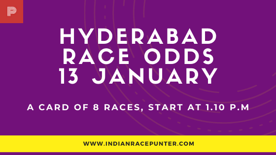 Hyderabad Race Odds 13 January,  free indian horse racing tips