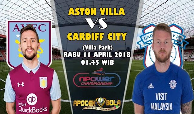 Prediksi Aston Villa vs Cardiff City 11 April 2018