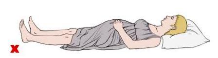 hindari tidur terlentang saat hamil