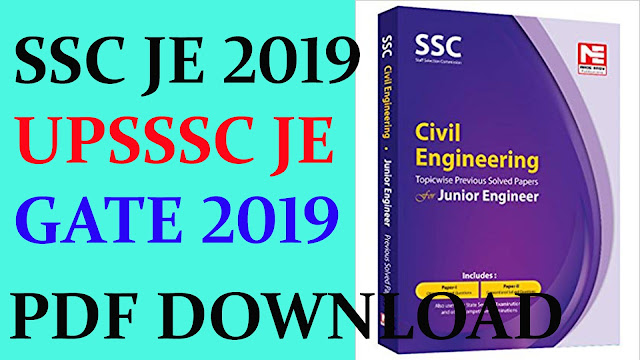 Study Material for Civil Engineering UPSSSC JE, SSC JE 2019, GATE, PSU, IES 2019