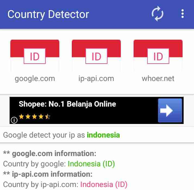 Instal Aplikasi Country Detector Untuk Check Status Vpn